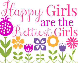 happy girls printable