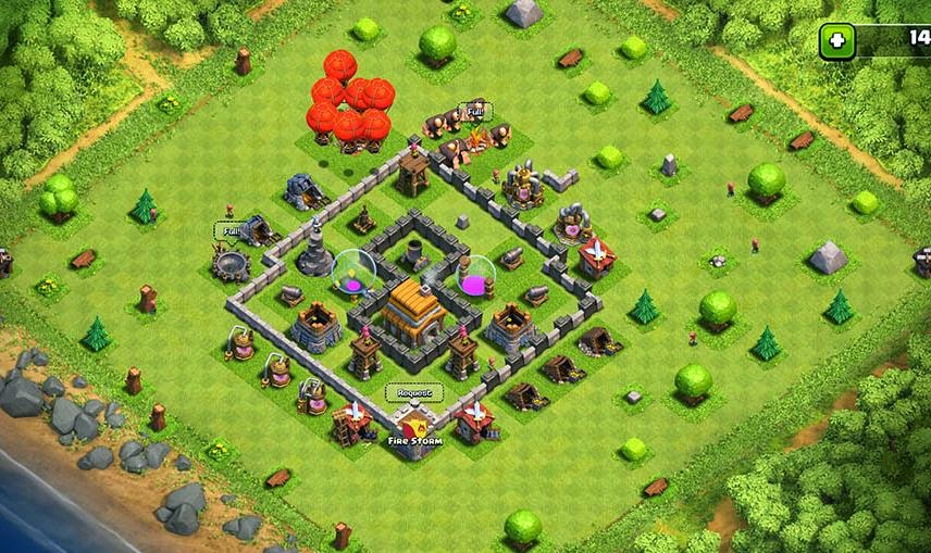 clash of clans media cocm town hall 5 base design