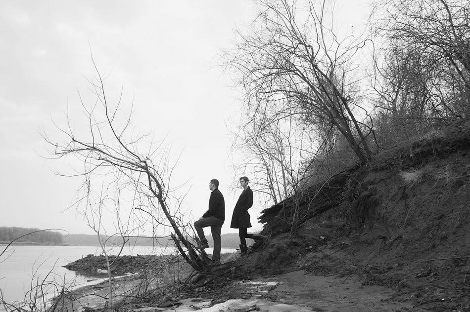 self portrait couple black and white