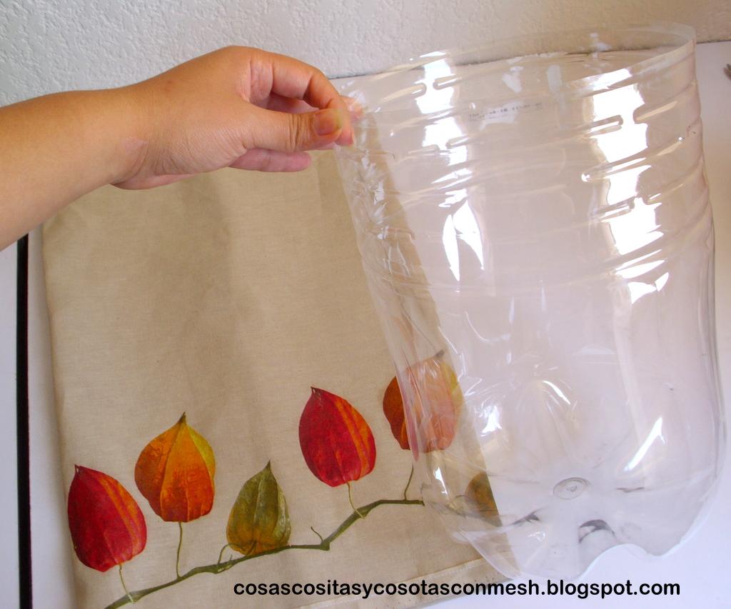 Como hacer un bote de basura reciclado ~ cositasconmesh