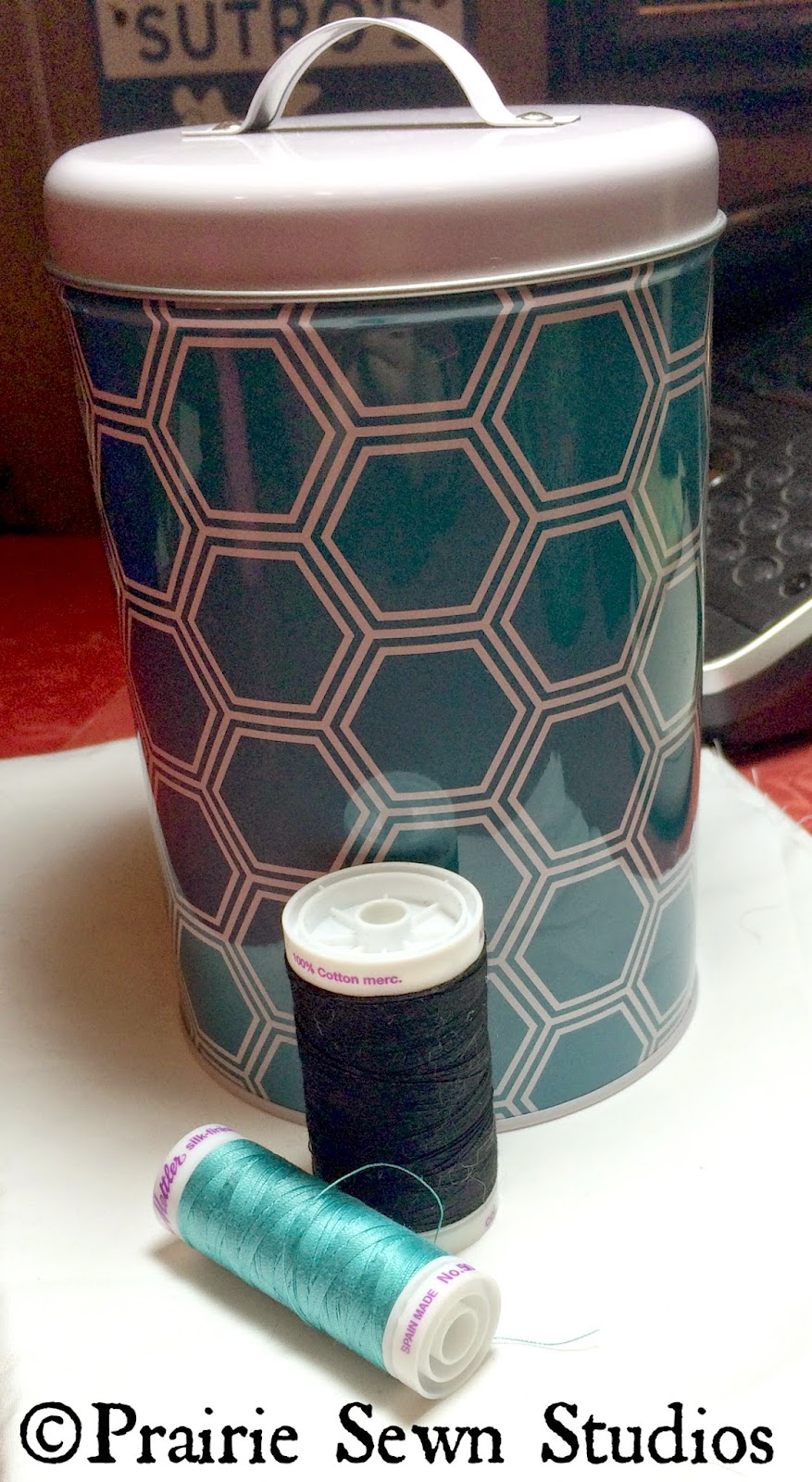 Target geometric canister hexagon storage