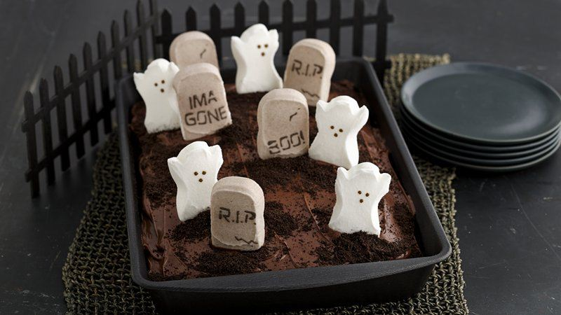 Graveyard Birthday Icecream Cake