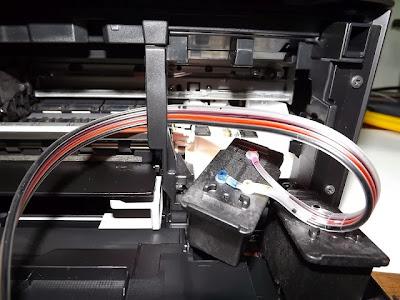 Как извлечь шлейф из принтера