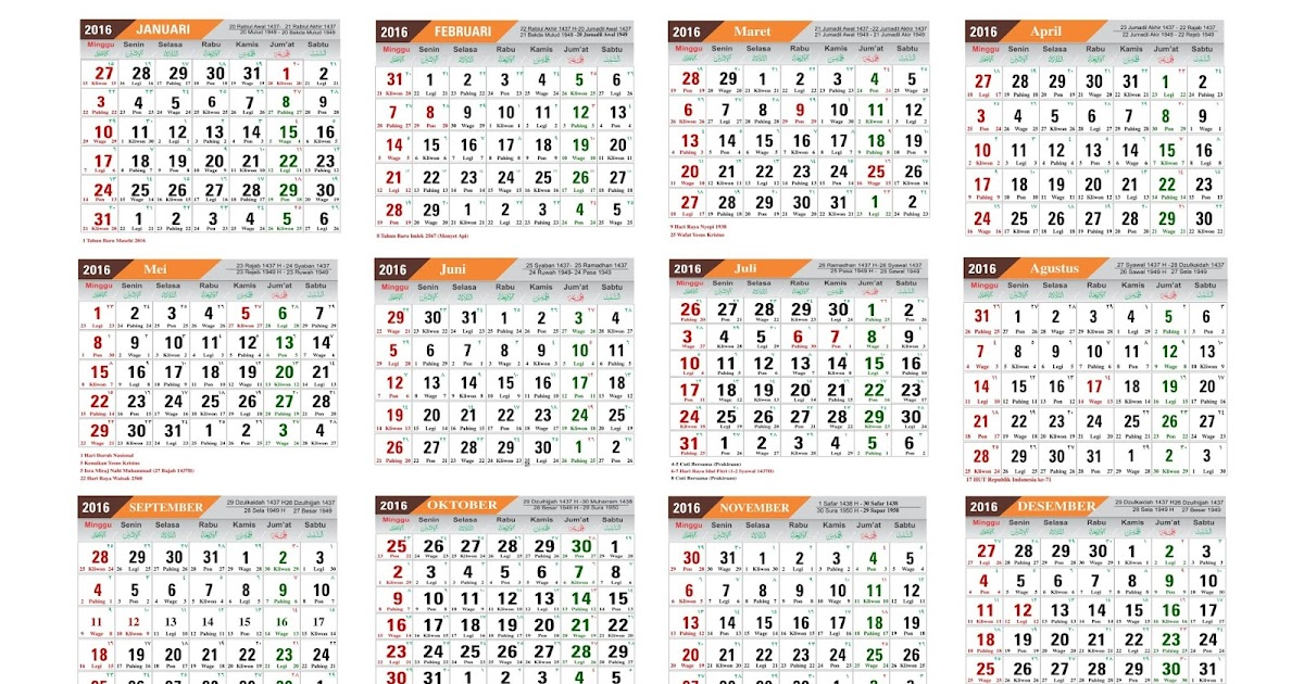 100% : Download Kalender