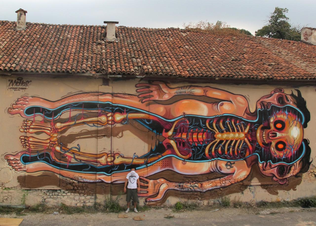 Street Art By Artflymovie Nychos The Weird Some
