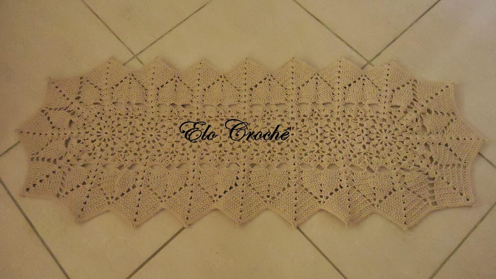 jogo de tapetes em crochê é o preferido de minhas clientes. Para  #664C2F 1600 901