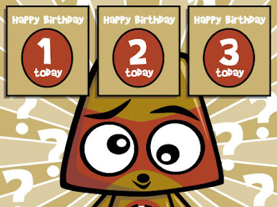 Can you work out which card the Miffed Mascot should buy to mark our birthday?