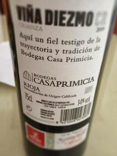 El alma del vino bodegas casa primicia vi a diezmo crianza 2009 - Bodegas casa primicia ...