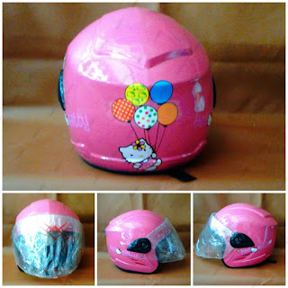 Helm anak Hello Kitty Baloon