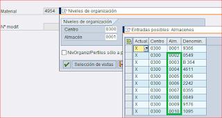 Matchcode de almacenes
