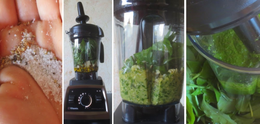Zubereitung Bärlauch-Pesto mit Cashewkernen