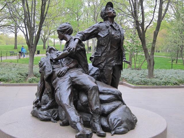 越南老兵紀念公園裡的銅像