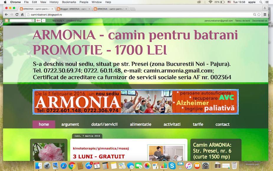 Noul site ARMONIA