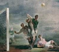 """Fragment obrazu Pawła Dadleza """"Walka o piłkę"""" z 1936 r."""