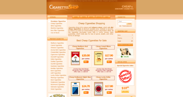 cheap cigarettes shop