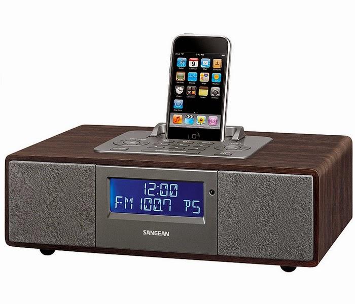 Качественный стильный компактный настольный Радиоприемник Sangean WR-5 со встроенным крэдлом для подключения iPod