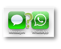 Apple iMessage x WhatsApp