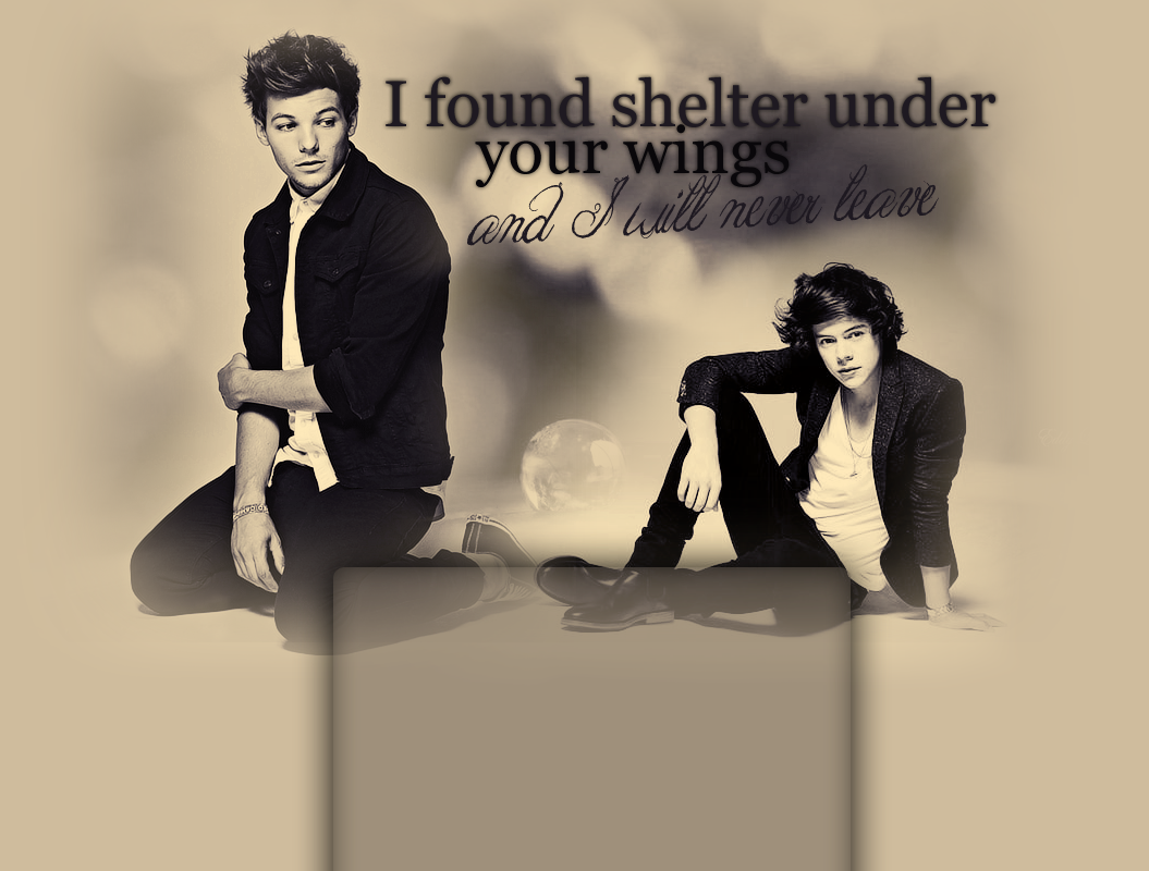 I found shelter under your wings...