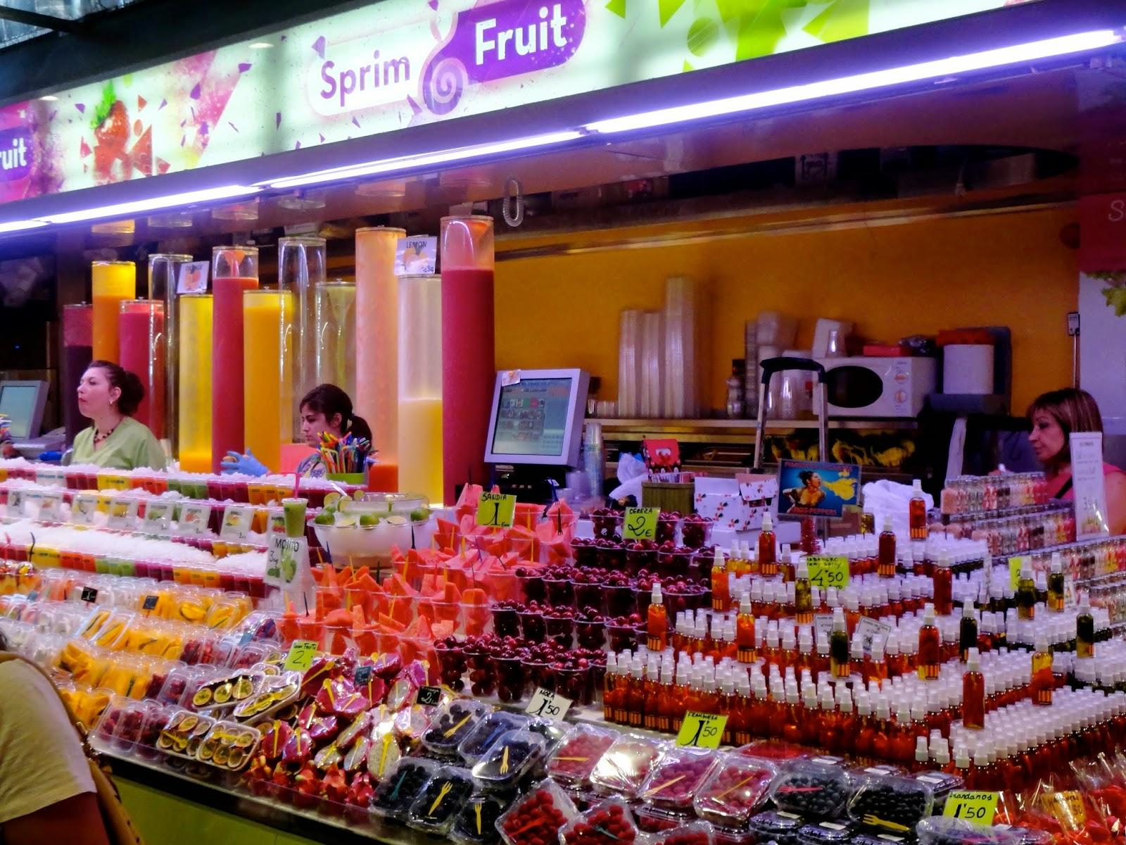 Fruit market stall in Barcelona
