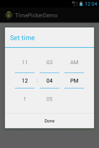 Android Time Picker