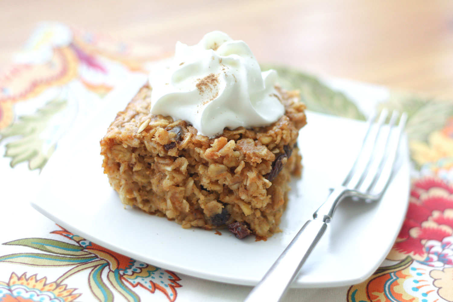 Pumpkin Baked Oatmeal Recipe by Barefeet In The Kitchen