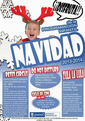 Cartel de la Programación Infantil Navidad 2013-2014.