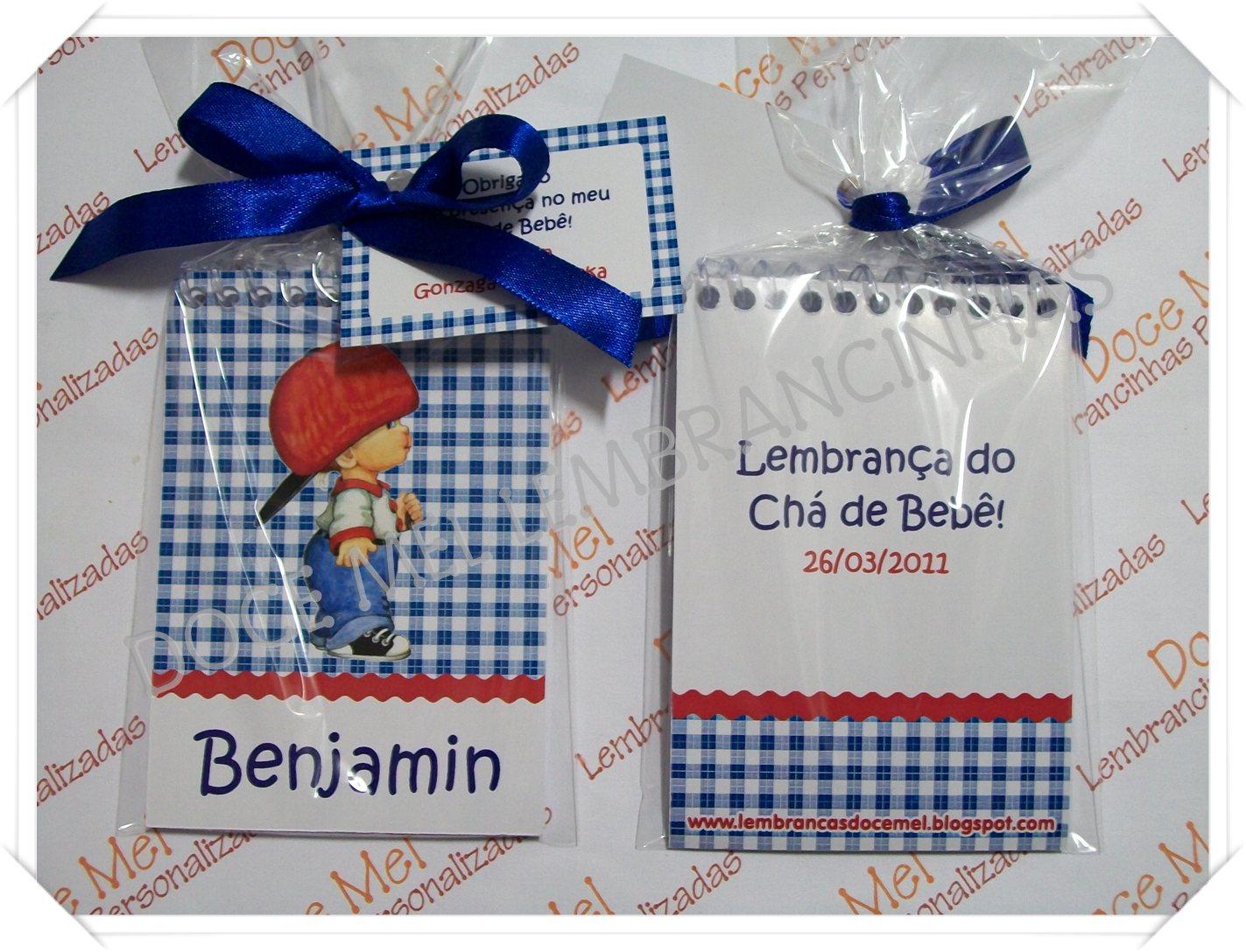 Doce Mel Lembrancinhas Personalizadas Bloquinho Para Chá De Bebê