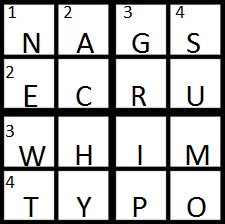 NPR Sunday Puzzle solution