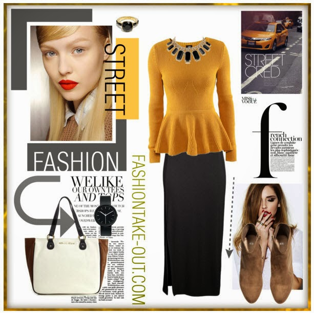 fashion looks in mustard yellow and h&m