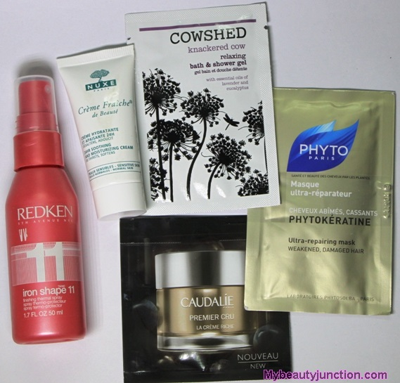 Skin care beauty box from HQHair unboxing, review