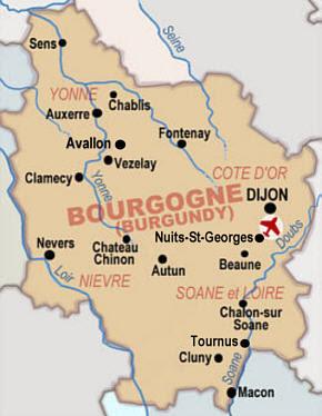 Mapa de Borgoña Imagen