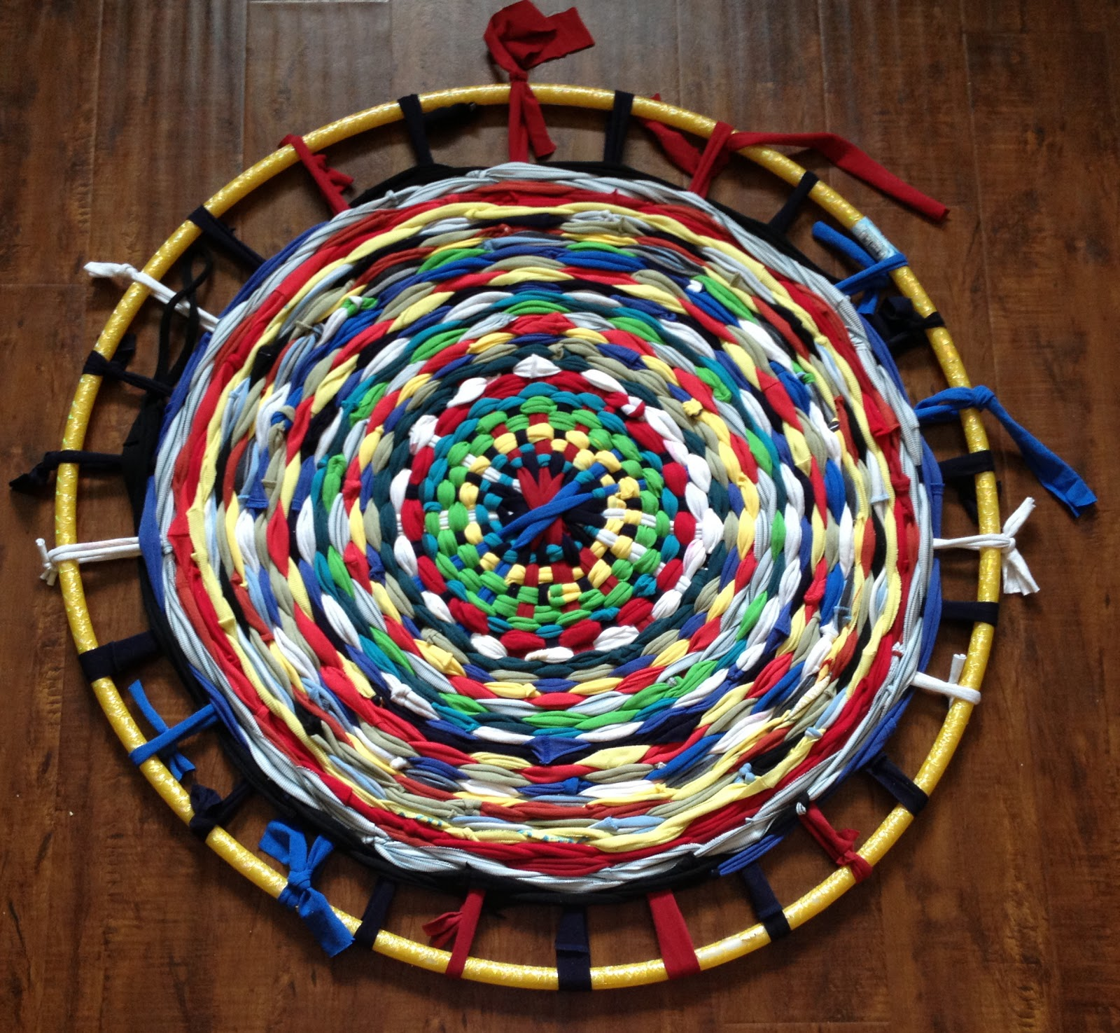 Reduce Reuse Recycle Make A T Shirt Hula Hoop Rug