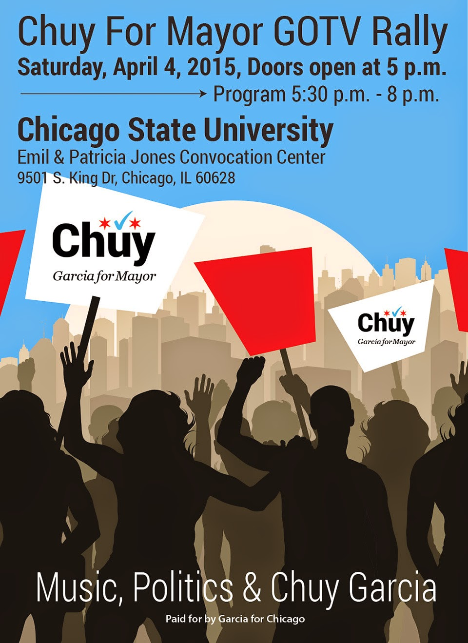 RALLY FOR CHUY THIS SATURDAY