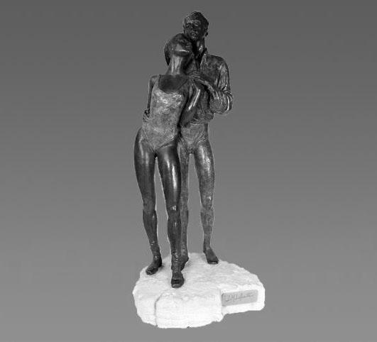 Escultura de una pareja
