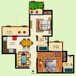 Amrapali Tropical Garden :: Floor Plans
