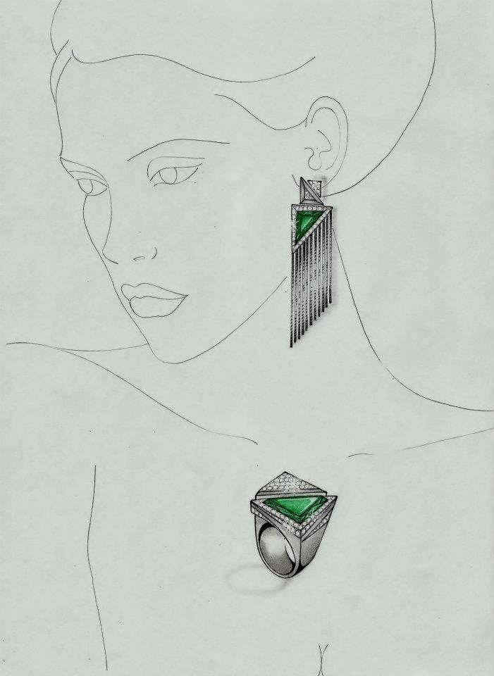 Conhecido Desenhando Moda: A arte do ilustrador de joias André Faria LW24