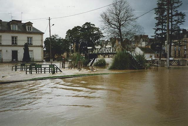 Grosse crue de la vilaine, photo de 1995