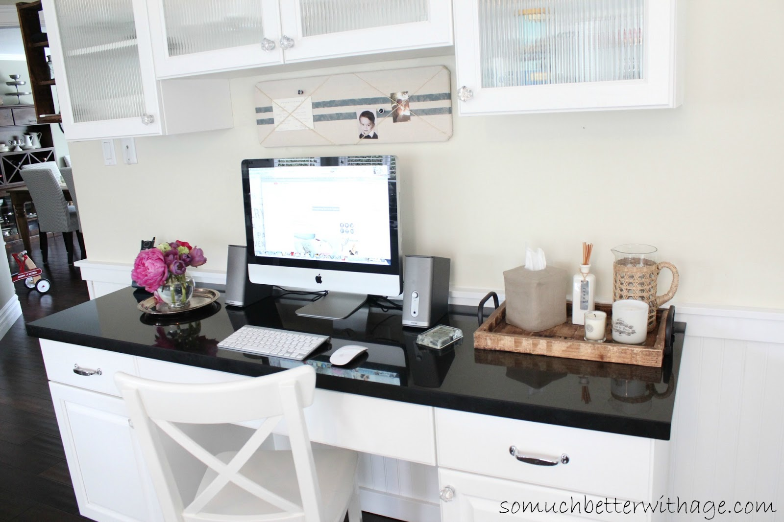 Kitchen Office Add An Office To Your Kitchen So Much Better With Age