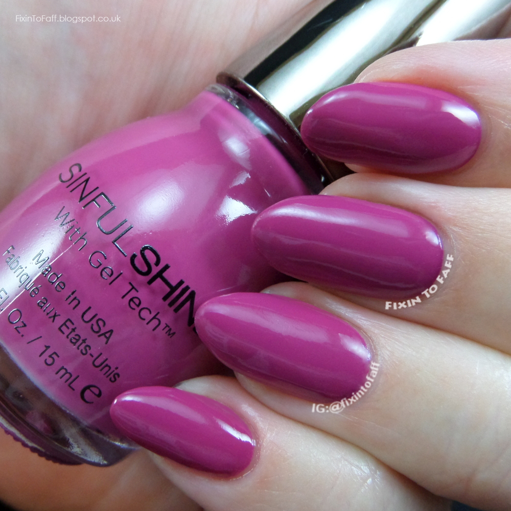 Swatch and review of Sinful Shine Royal Flush.