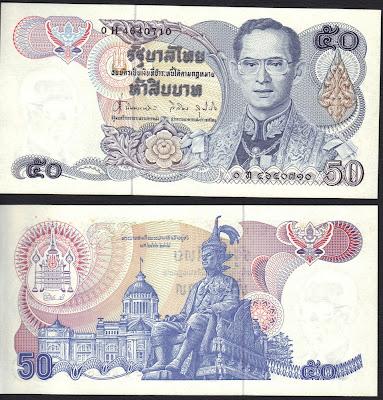 Tailandia 50 baht 1985 P# 90b