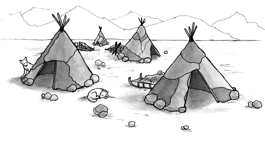 Summer/Spring Inuit Tent Village  sc 1 st  Jennifer K. Keller & Jennifer K. Keller: Illustrations: Native Americans - Final Chapters