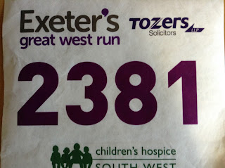 Exeter Great West Run 2015 Race Number