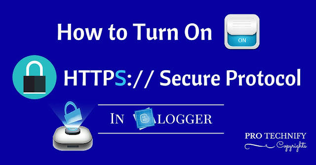 How to turn on https in blogger blogspot
