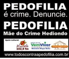 Somos contra a pedofilia