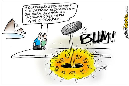 Bueiros explodem no Rio