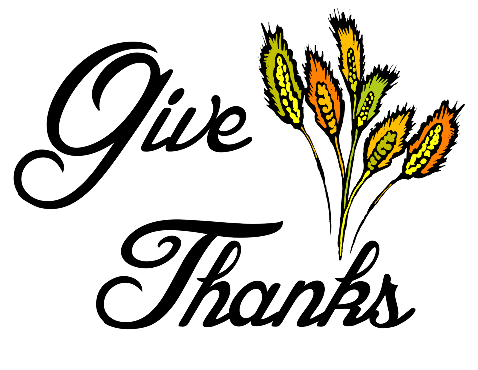 It is a photo of Peaceful Give Thanks Printable