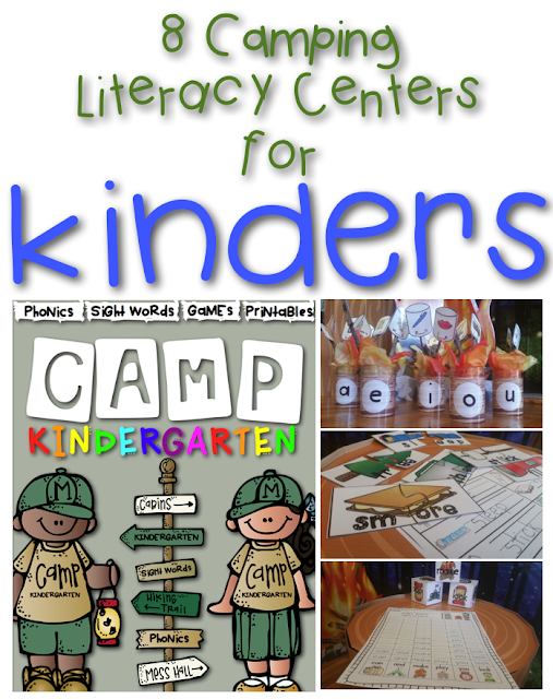 https://www.teacherspayteachers.com/Product/Camp-Kindergarten-Literacy-Centers-and-Activities-for-Kindergarten-1911179