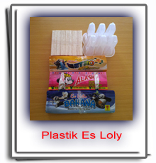 Order plastik kemasan es loly stik kayu cetakan