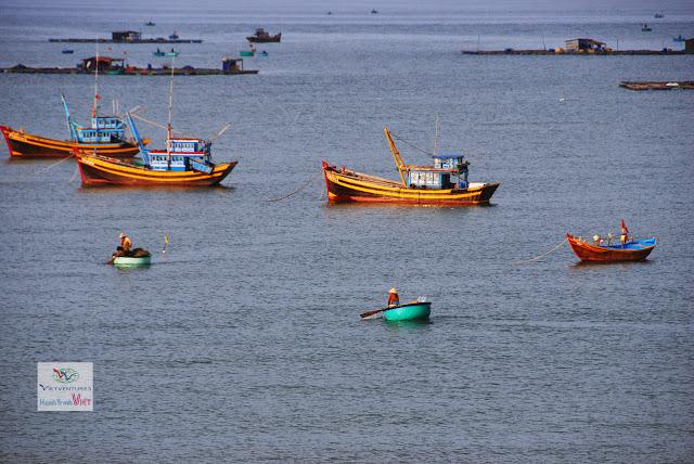 Cảng cá Mũi Né một ngày nắng đẹp