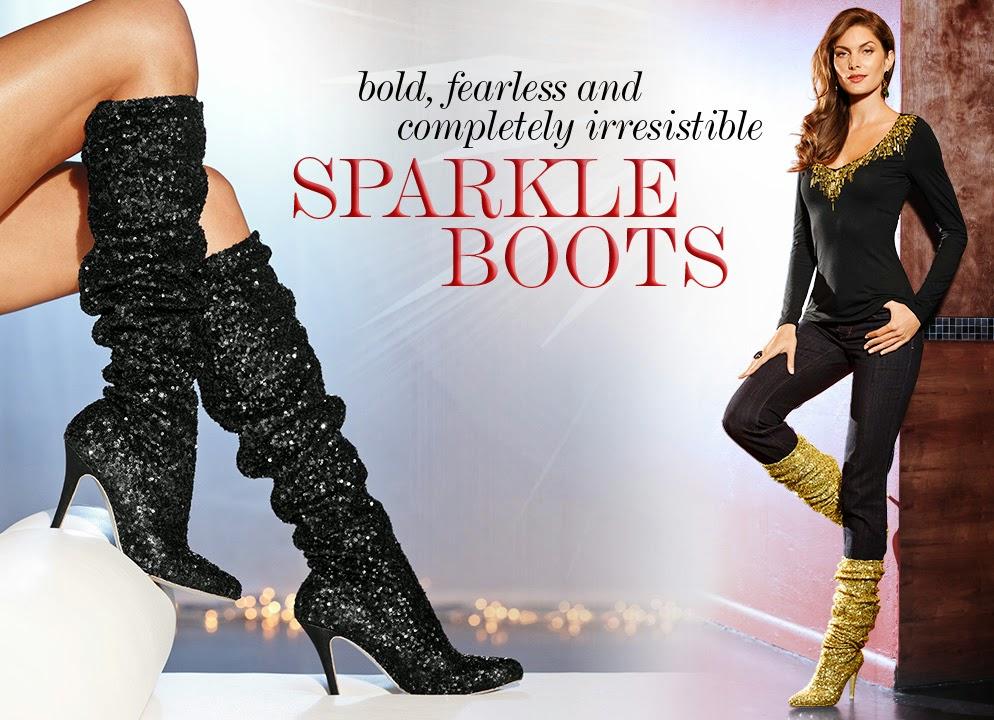 Lauren Lorraine Nikita sequin boots now at Boston Proper!
